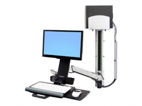 Ergotron StyleView Sit-Stand Combo System silber
