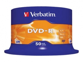 Verbatim - 50 x DVD-R - 4.7 GB 16x - mattes Silber