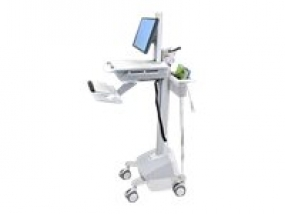 Ergotron StyleView EMR Cart with LCD Pivot, LiFe